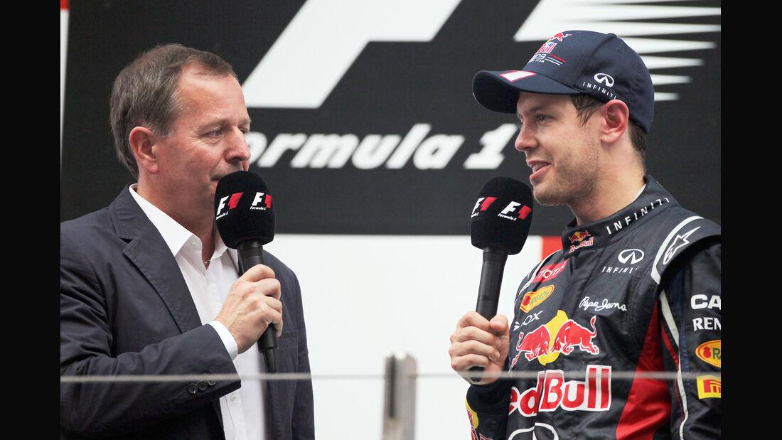 Brundle & Vettel GP Indien 2012