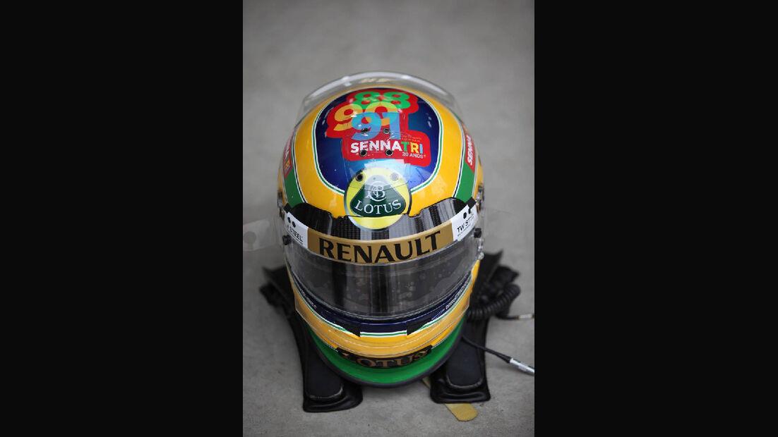 Bruno Senna Helm - Formel 1 - GP Korea - 14. Oktober 2011