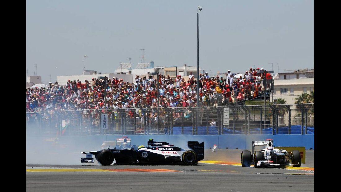 Bruno Senna Kamui Kobayashi - Formel 1 - GP Europa - 24. Juni 2012