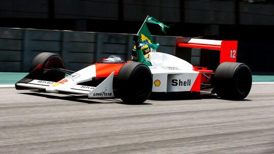 Bruno Senna - McLaren MP4/4 - Showrun - GP Brasilien 2019
