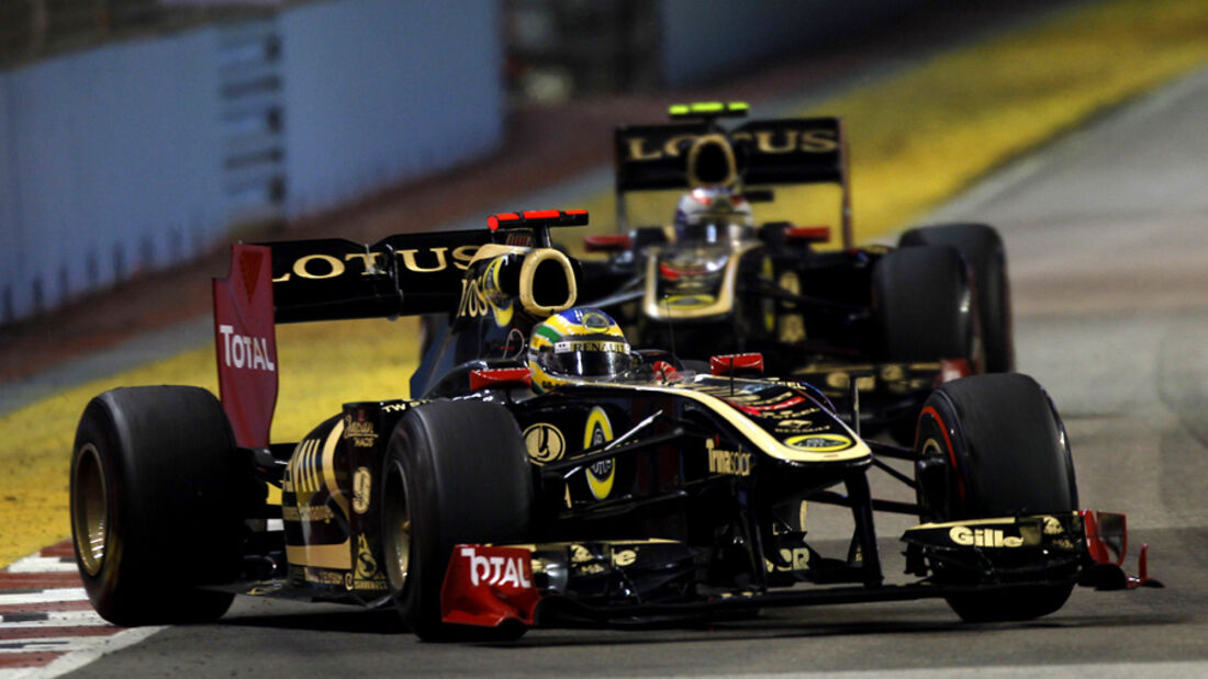 Bruno Senna Renault GP Singapur 2011