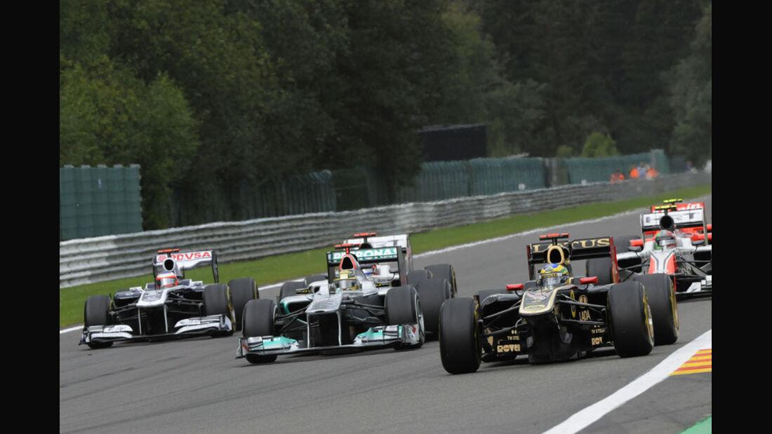 Bruno Senna Rennen GP Belgien 2011
