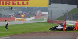 Bruno Senna Williams Crash GP England 2012
