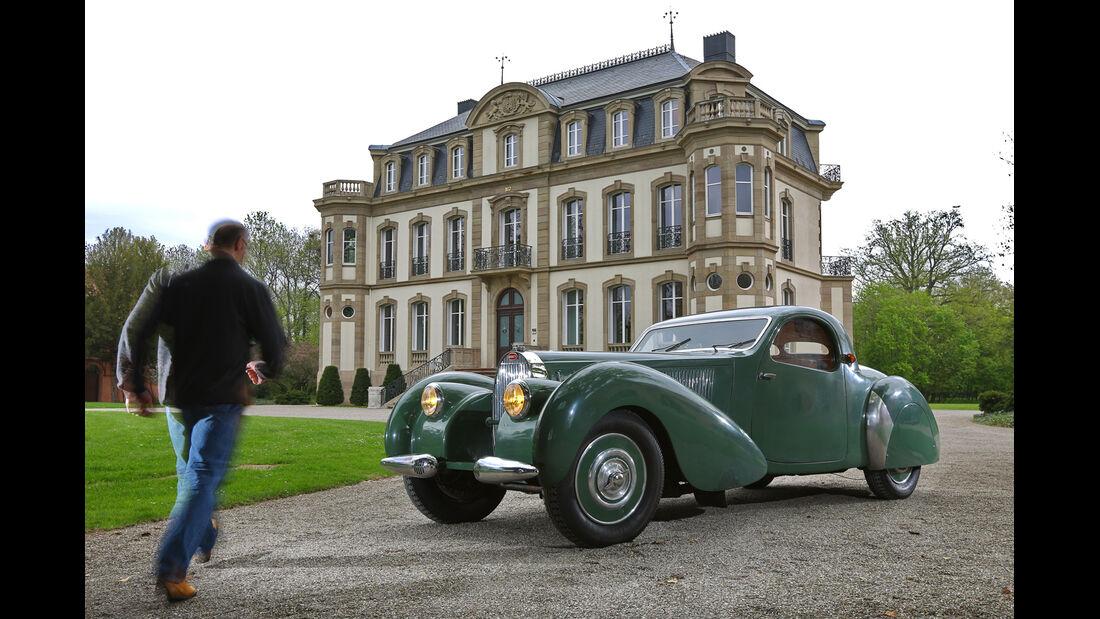 Bugatti 57 C Vanvooren, Seitenansicht