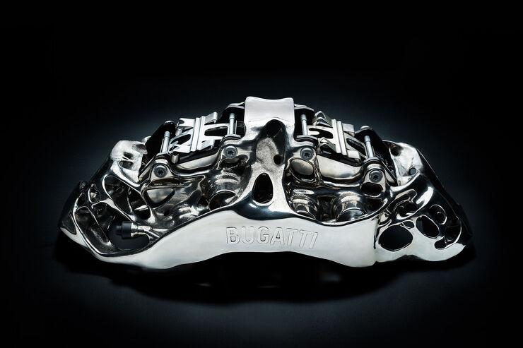 Bugatti drucktBremssattel: Titanbremse aus dem3D-Drucker