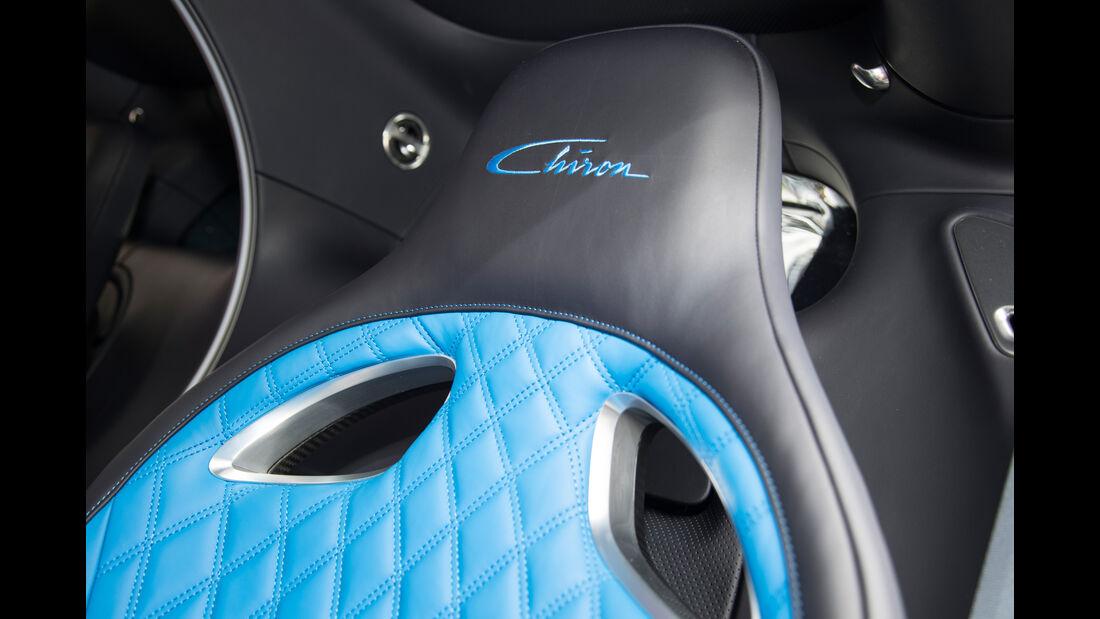Bugatti Chiron, Lenkrad, Detail