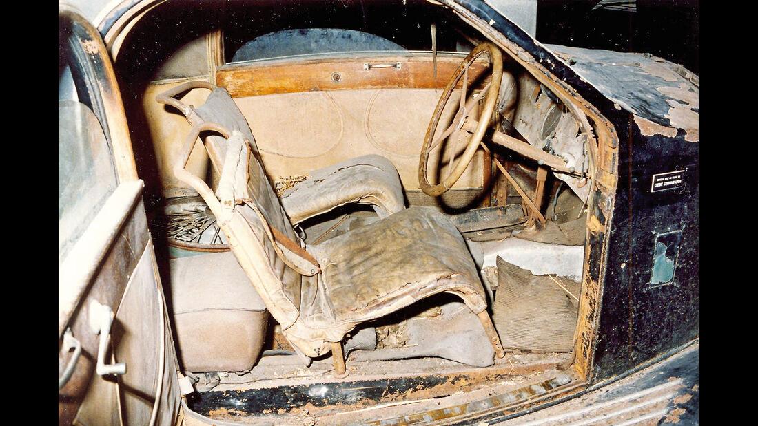 Bugatti Typ 57 Ventoux, Cockpit, Unrestauriert