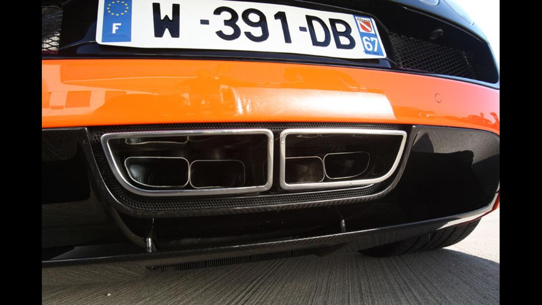 Bugatti Veyron 16.4 Super Sport, Auspuff