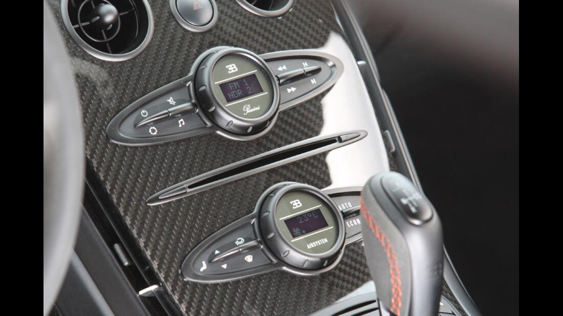 Bugatti Veyron 16.4 Super Sport, Mittelkonsole
