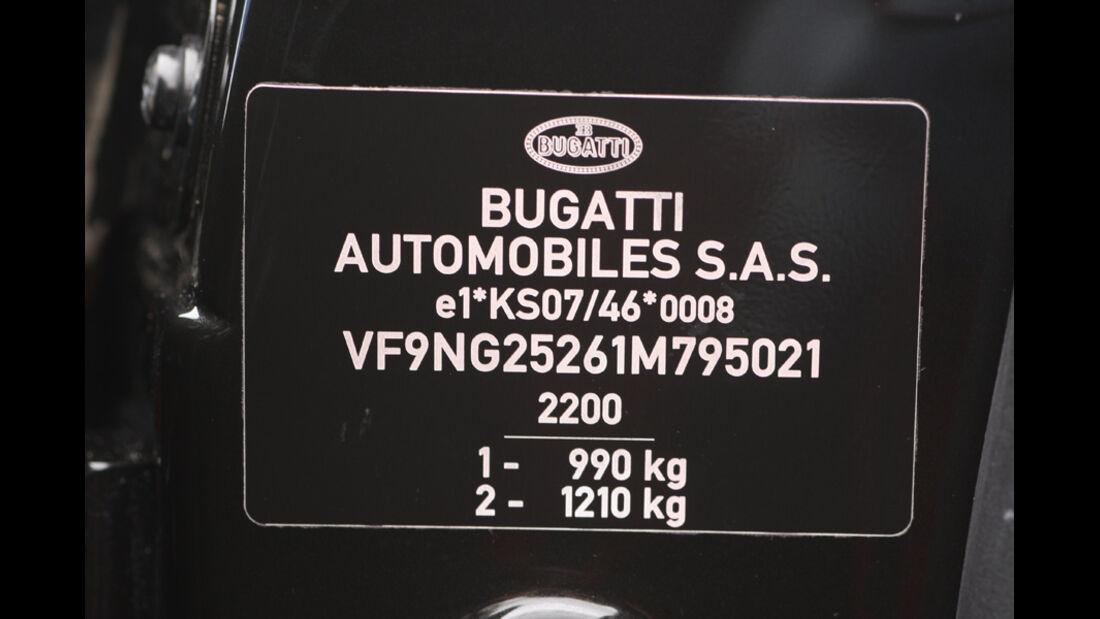 Bugatti Veyron 16.4 Super Sport, Schild