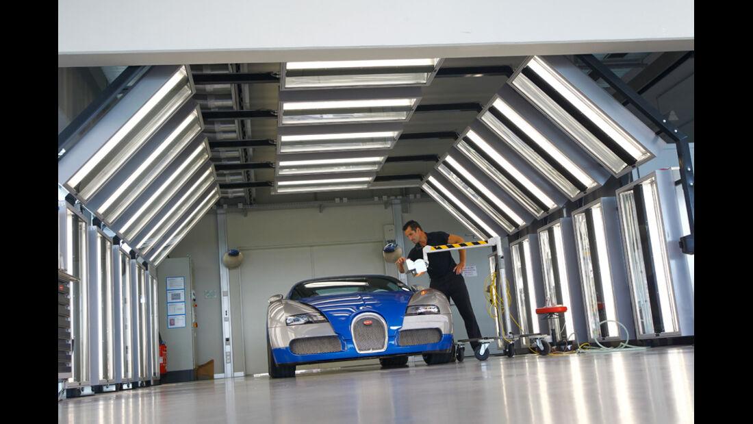 Bugatti Veyron 16.4 Super Sport, Werkstatt, Strömungskanal
