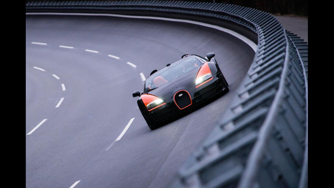 Bugatti Veyron Grand Sport Vitesse, Frontansicht, Steiwand