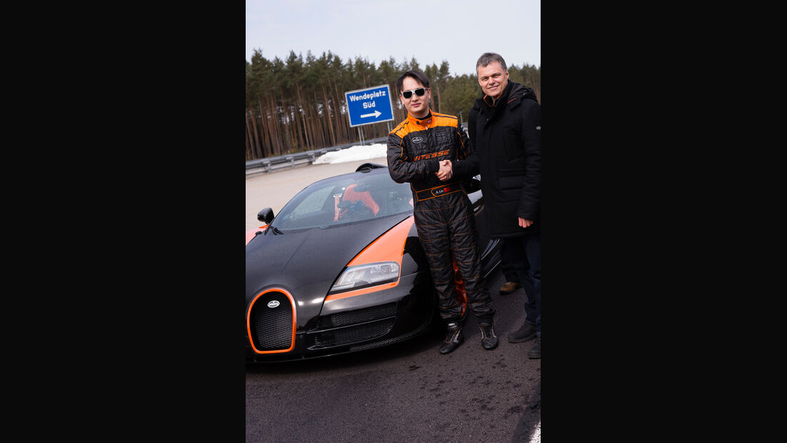 Bugatti Veyron Grand Sport Vitesse, Rekordfahrt