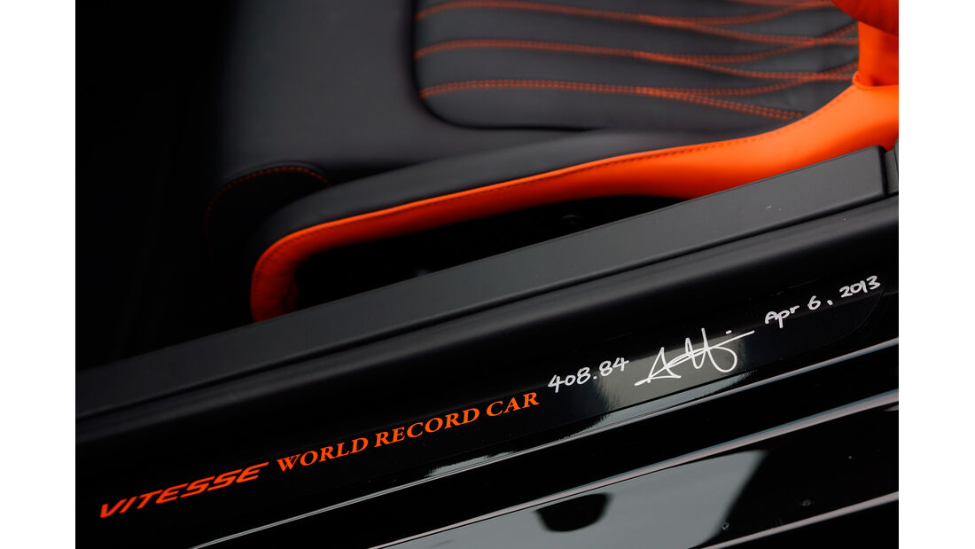 Bugatti Veyron Grand Sport Vitesse, Schriftzug