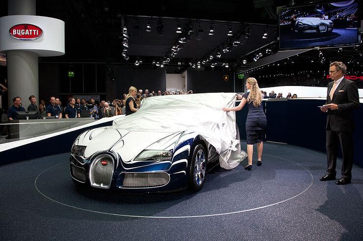 bugatti veyron grand sport l or blanc supersportwagen unikat mit porzellan auto motor und sport. Black Bedroom Furniture Sets. Home Design Ideas