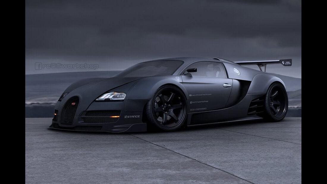 Bugatti Veyron - Rennversion - Photoshop