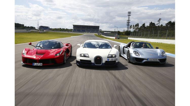 Veyron Laferrari Und 918 Spyder Im Vergleich Gipfeltreffen Mit 3 050 Ps Auto Motor Und Sport
