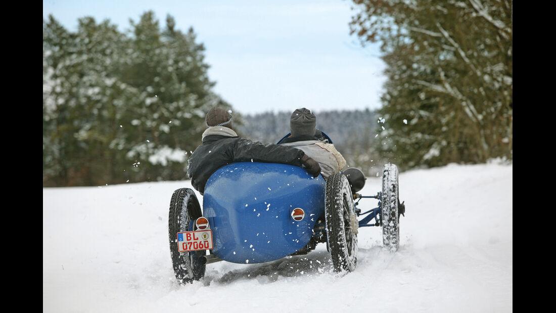 Bugatti, Winter, Heck