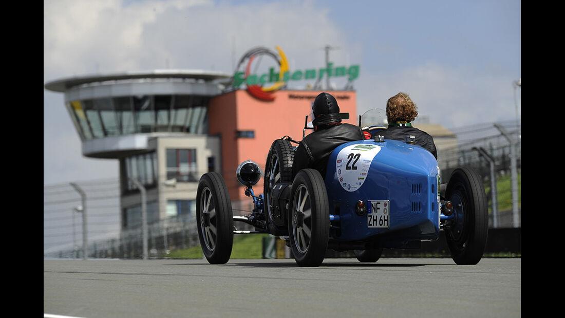 Bugatti auf dem Sachsenring