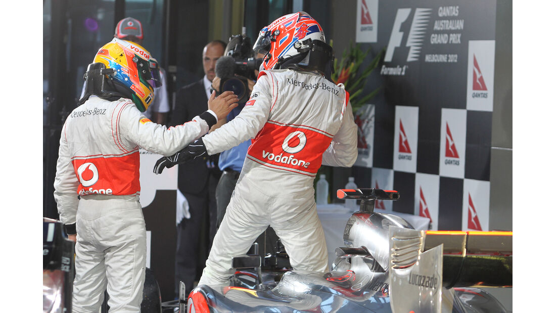Button & Hamilton GP Australien 2012