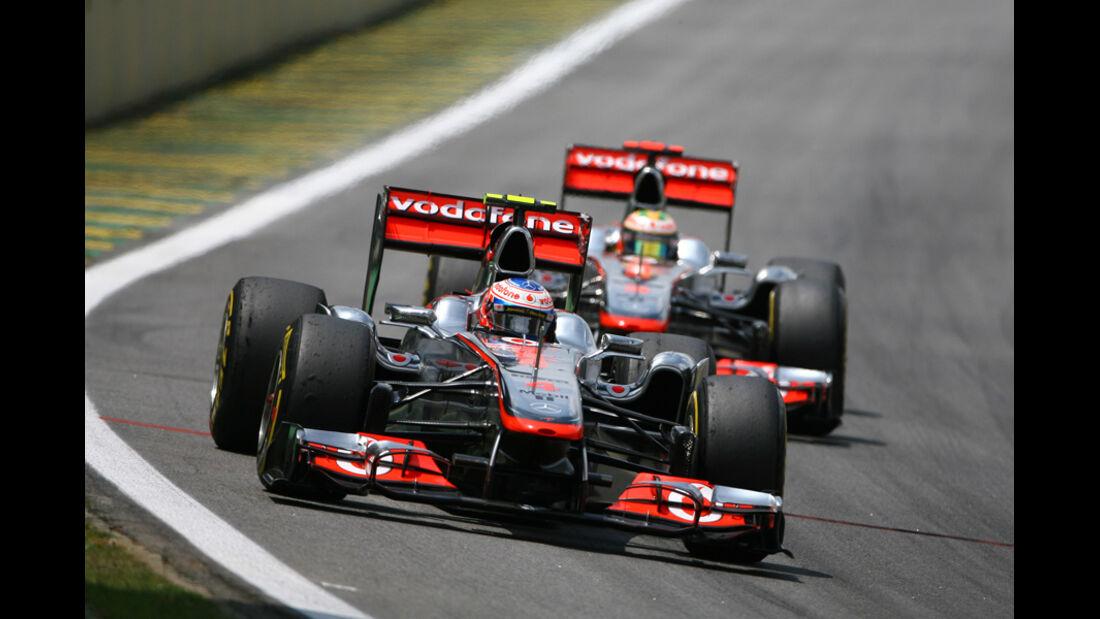 Button & Hamilton GP Brasilien 2011