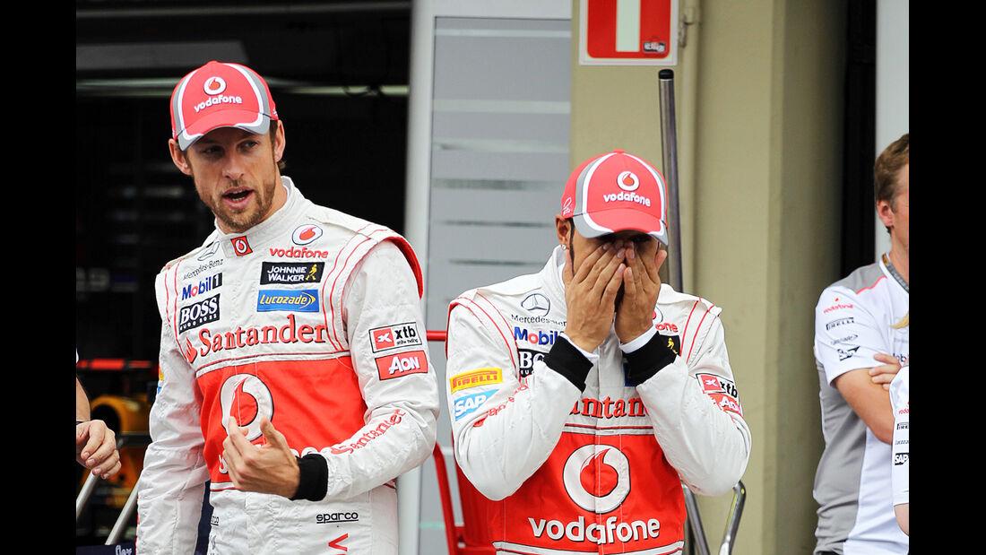 Button & Hamilton GP Brasilien 2012
