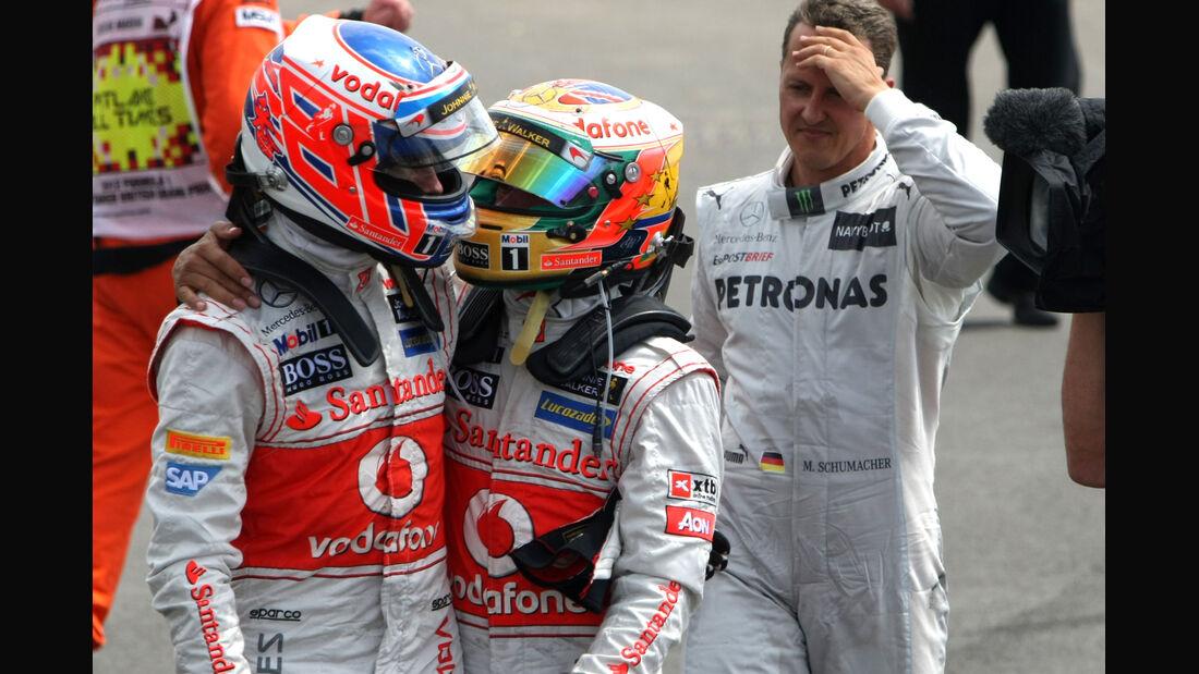 Button & Hamilton GP England Silverstone 2012