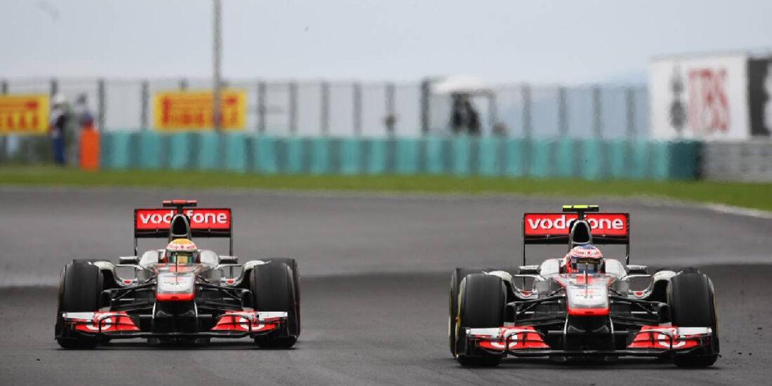 Button Hamilton - GP Ungarn - Formel 1 - 31.7.2011 - Highlights