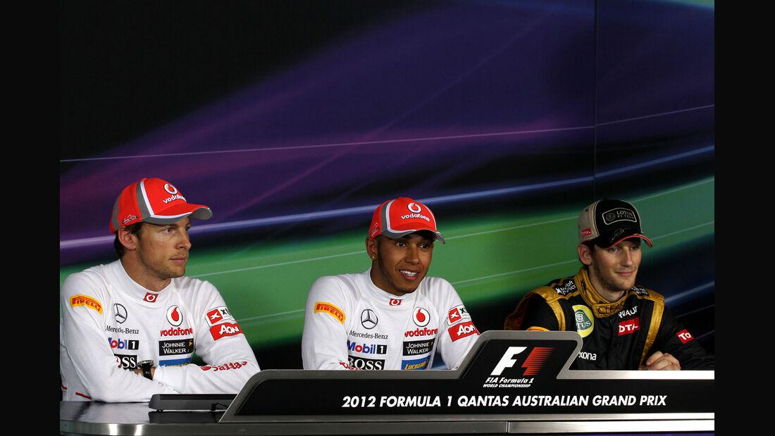 Button, Hamilton & Grosjean - GP Australien - Melbourne - 17. März 2012