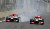 Button Hamilton McLaren GP Brasilien 2012