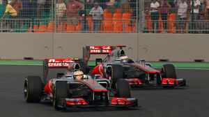Button & Hamilton - McLaren - GP Indien 2012