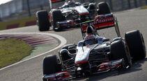 Button Hamilton McLaren GP Japan 2011