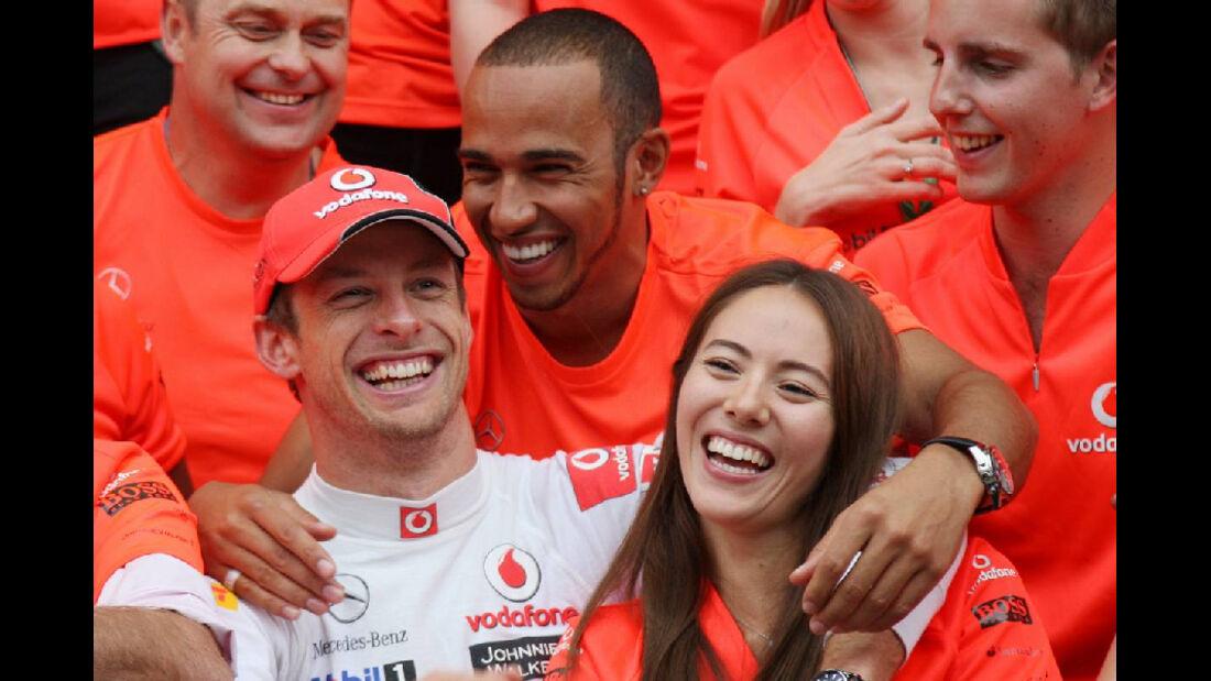 Button Hamilton Michibata - GP Ungarn - Formel 1 - 31.7.2011 - Highlights