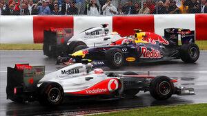 Button Hamilton Webber GP Kanada 2011