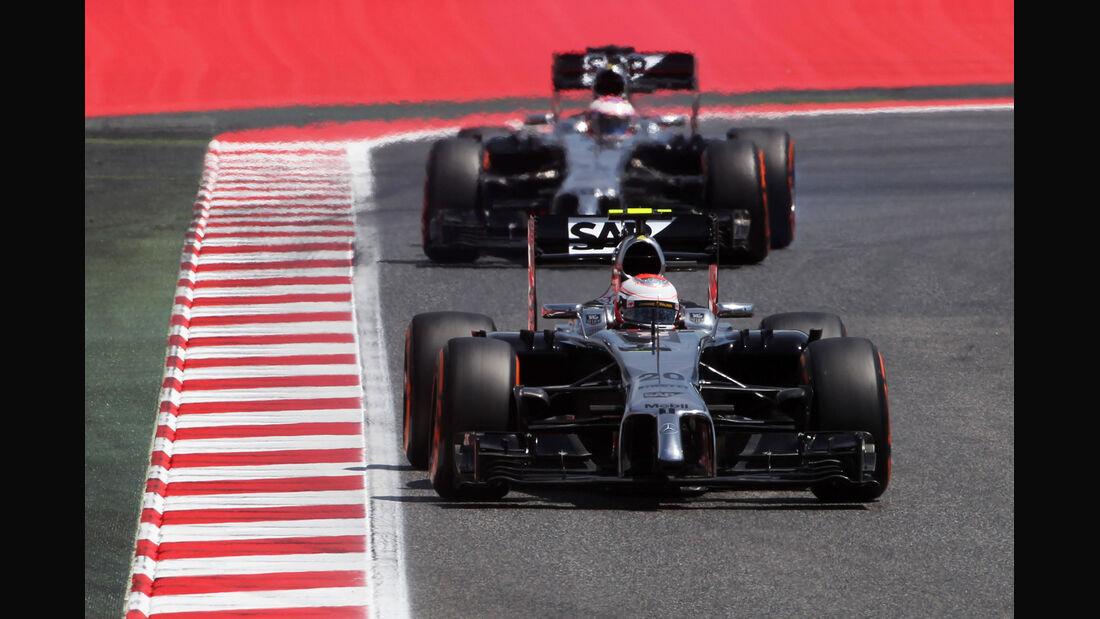 Button & Magnussen - GP Spanien 2014