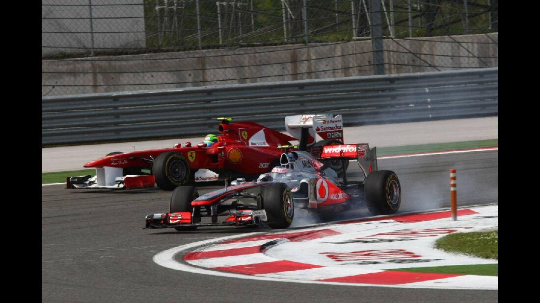 Button Massa Impressionen GP Türkei 2011