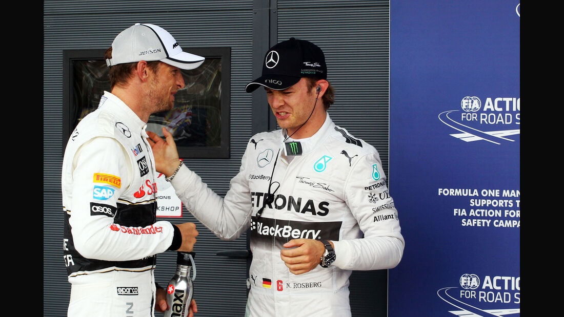 Button & Rosberg - Formel 1 - GP England - Silverstone - 5. Juli 2014