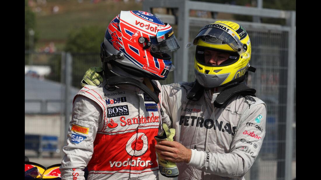 Button & Rosberg GP Ungarn 2012