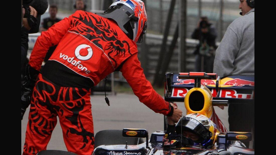 Button Vettel Formel 1 GP China 2011