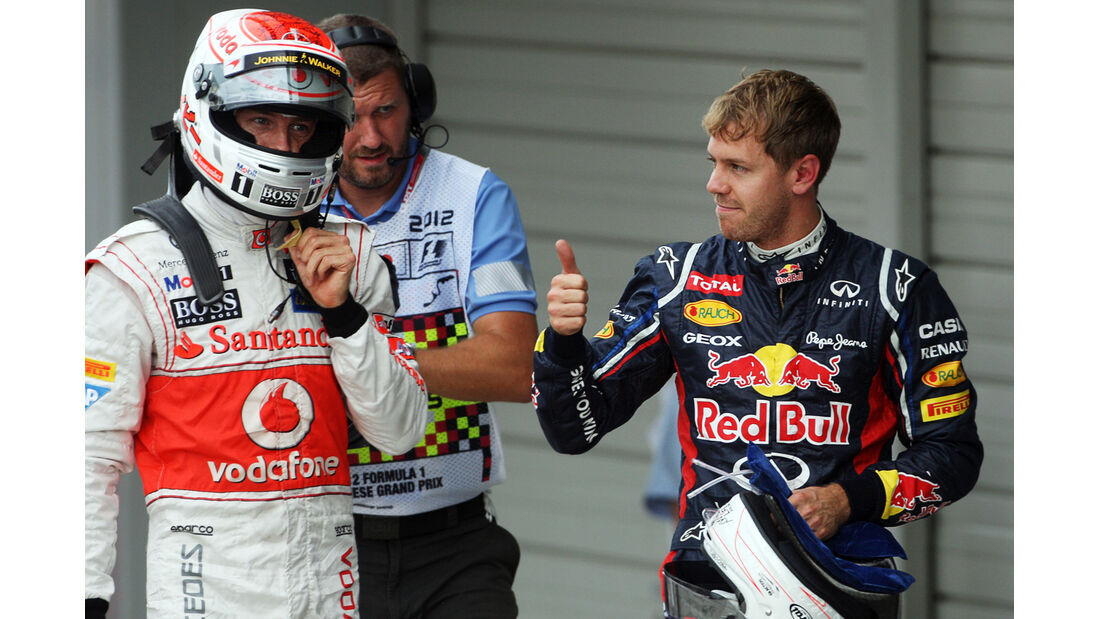 Button & Vettel - Formel 1 - GP Japan - Suzuka - 6. Oktober 2012