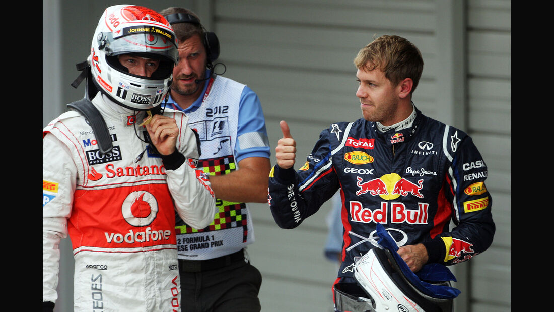Button & Vettel - Formel 1 - GP Japan - Suzuka - 6. Oktober 2012