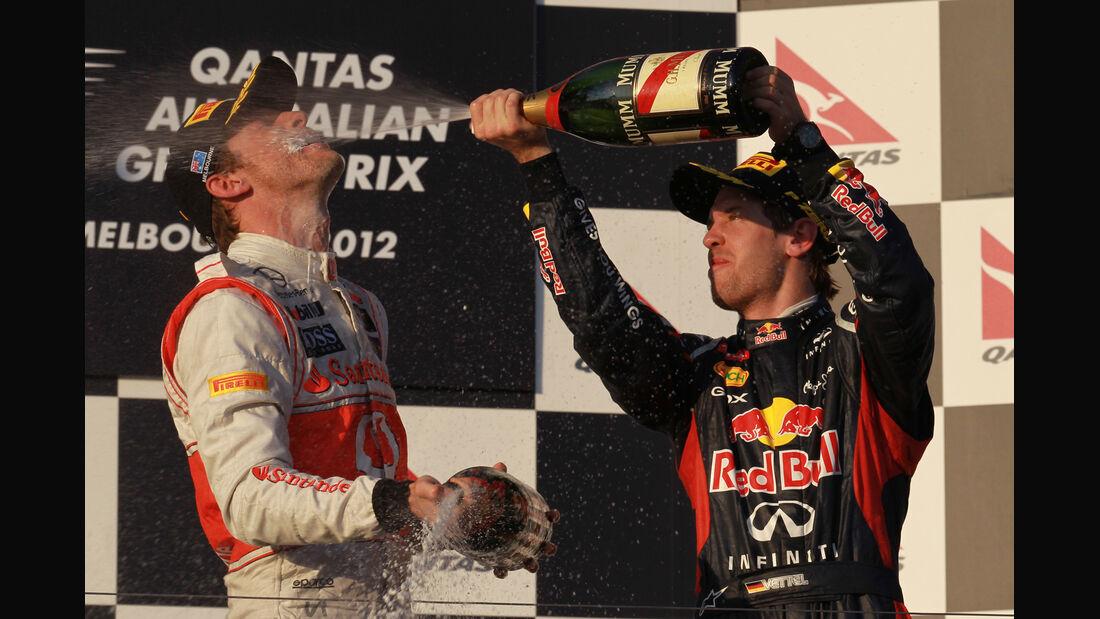 Button & Vettel GP Australien 2012