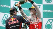 Button Vettel GP Malaysia 2011 Formel 1