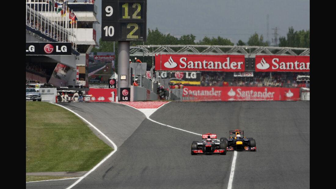 Button & Vettel GP Spanien 2012