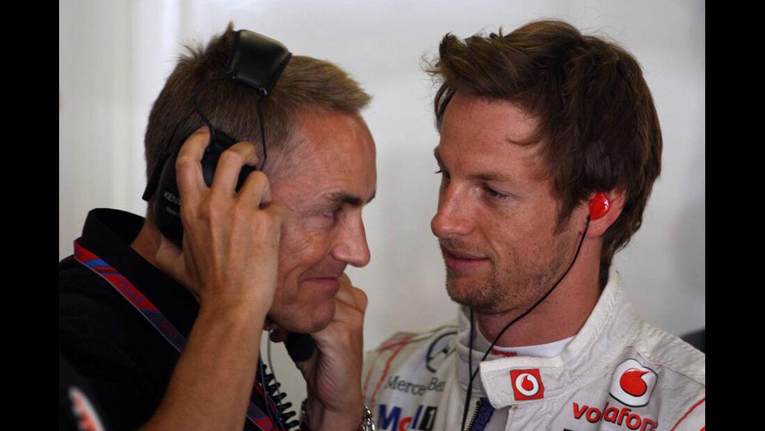 Button & Whitmarsh GP Spanien 2011