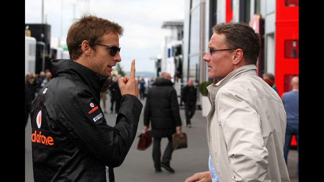 Button und Coulthard - GP Deutschland - Nürburgring - 23. Juli 2011