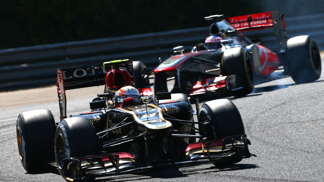 Button vs. Grosjean - GP Ungarn 2013