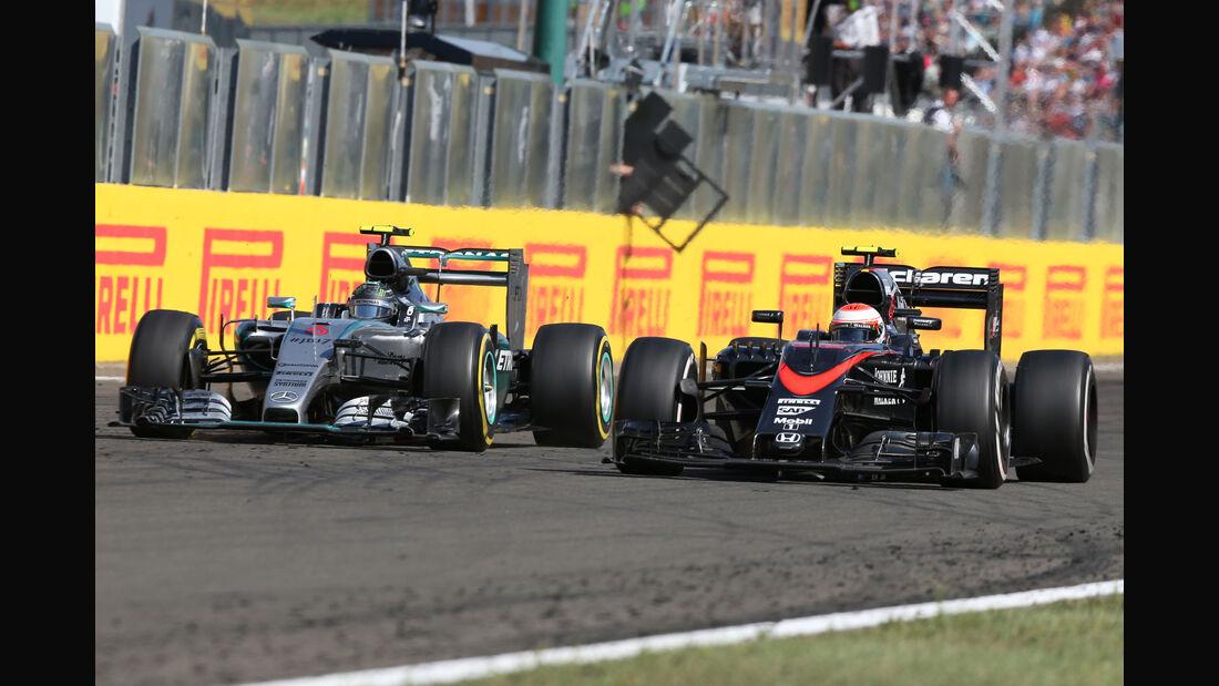 Button vs. Rosberg - GP Ungarn 2015