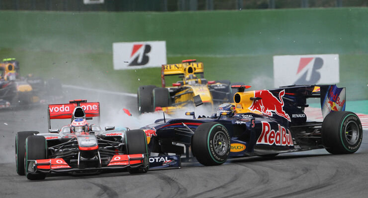 Button vs Vettel