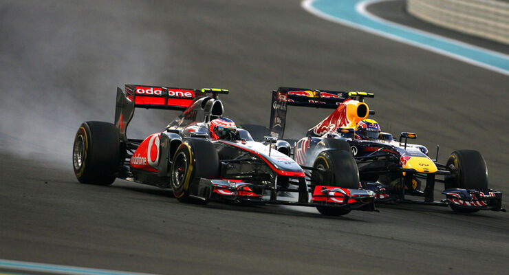 Button vs. Webber GP Abu Dhabi 2011